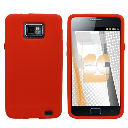 Samsung Galaxy S 2 / Samsung I9100 Galaxy S II Gel Skin Case - Red