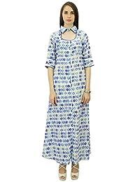 Phagun Summer Geometric Print Cotton Dress Women Casual Sundress