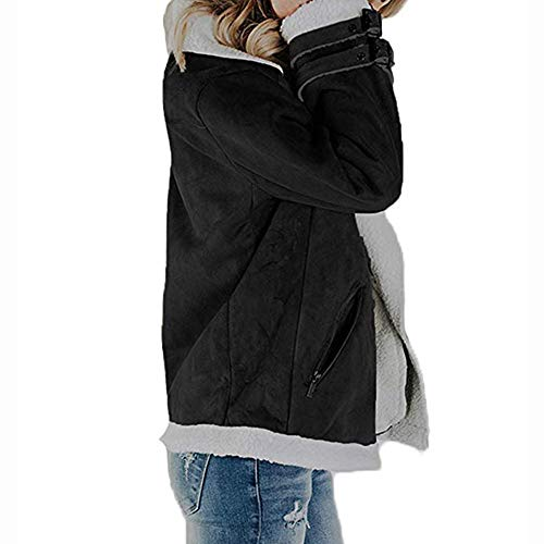 Amazon.com: Nevera Women Faux Suede Warm Jacket Zipper Up Open Front Coat Outwear with Pockets: Clothing