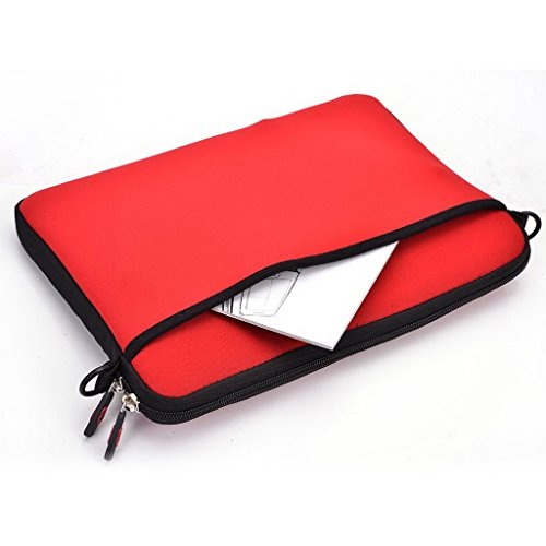 Kroo uneversal Messenger/Sleeve Tasche mit Zubehör Tasche und Schulterriemen passt für Asus Zenbook UX301LA rot rot rot QVE46