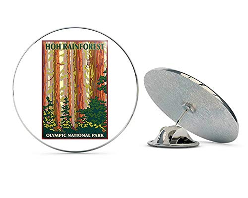 NYC Jewelers HOH Rainforest Poster Art (Olympic National Park Hike) Metal 0.75