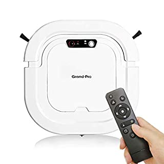 Robotic Vacuum Plus Mop, Grand-Pro A1 Strong Suction Robotic Vacuum Cleaner, Up to 120mins Runtime Automatic Self-Charging Robot Vacuum for Pet Hair Hard Floor to Medium-Pile