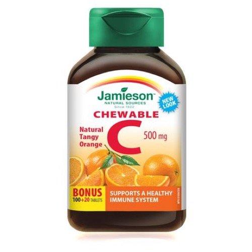 Jamieson Chewable Vitamin C 500 mg - Tangy Orange