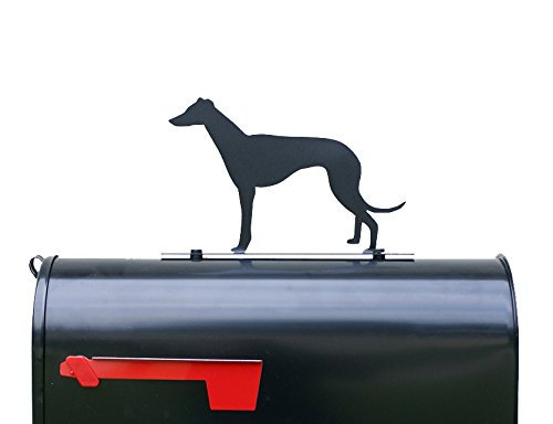 Greyhound Dog Silhouette Mailbox Topper/Sign