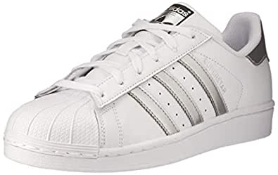adidas Women's Superstar Trainers, Footwear White/Silver Metallic/Core Black, 5 US