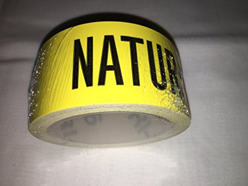 Roll Of Natural Gas Pipe Marker 72 Labels In A Roll With