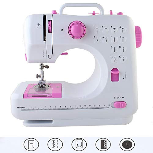 Portable Sewing Machine with Foot Pedal 12 Stitches Double Speed Sew Machine Overlock Quick Sewing Machine Household Sewing Tool