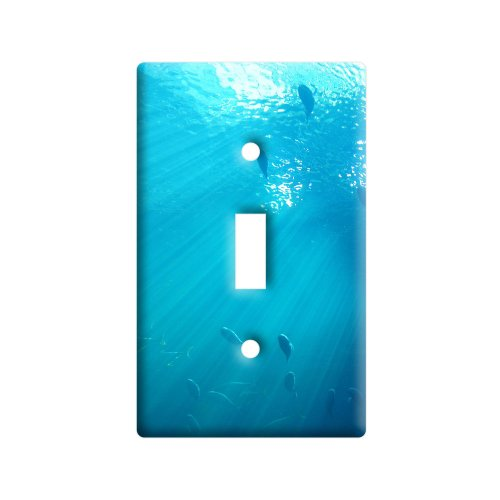 - Ocean Fish Underwater - Plastic Wall Decor Toggle Light Switch Plate Cover