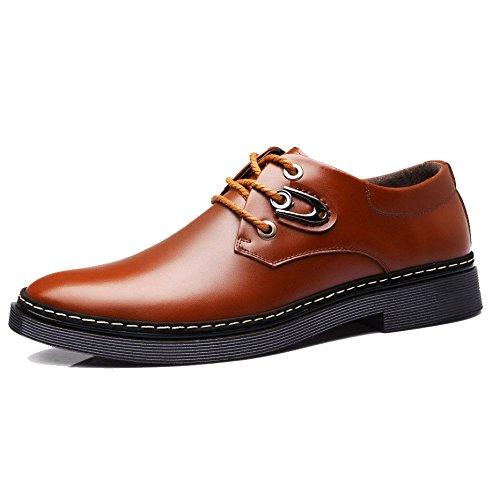 Zapatos Negocios Hombres Cordones De Para Ocasionales Zapatos Con OEMPD Brown Transpirables wSxYnfg