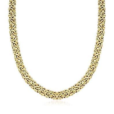 Ross-Simons 18kt Gold Over Sterling Silver Byzantine Necklace 1977142