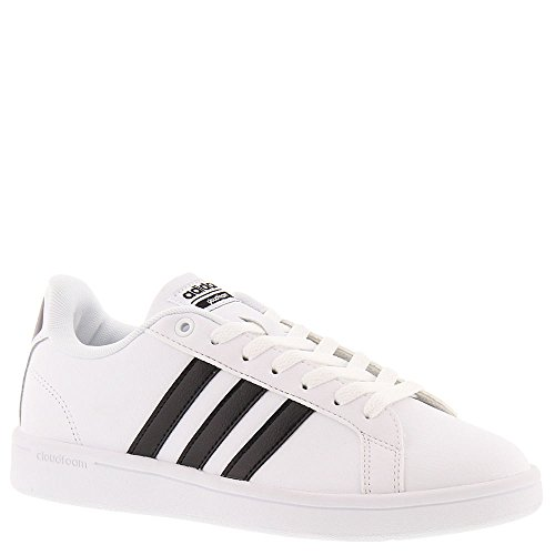 adidas Women's Shoes | Cloudfoam Advantage Sneakers, Black/White, (11 M US)