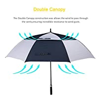 ZOMAKE Automatic Open Golf Umbrella 62/68 Inch - Large Rain Umbrella Oversize Windproof Umbrella Double Canopy for Men