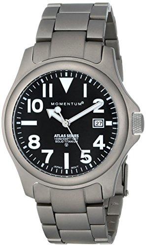 "ST. MORITZ Momentum Men's 1M-SP00B0 ""Atlas"" Titanium Watch"