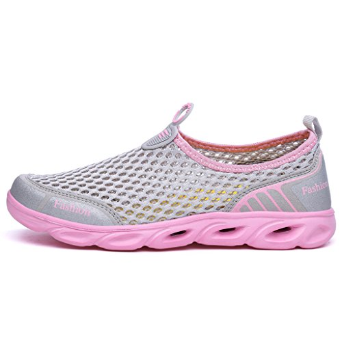 Clax Womens Quick Drying Aqua Water Shoes Rosa