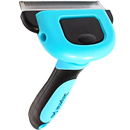 - Imperial Pets Grooming & Deshedding Brush, Blue, Medium
