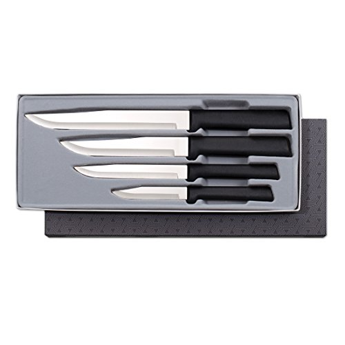 Rada Cutlery Wedding Register Knife Gift Set - 4 Culinary Knives With Black Stainless Steel Resin Handle Made in the USA (Best Places To Register For Wedding)