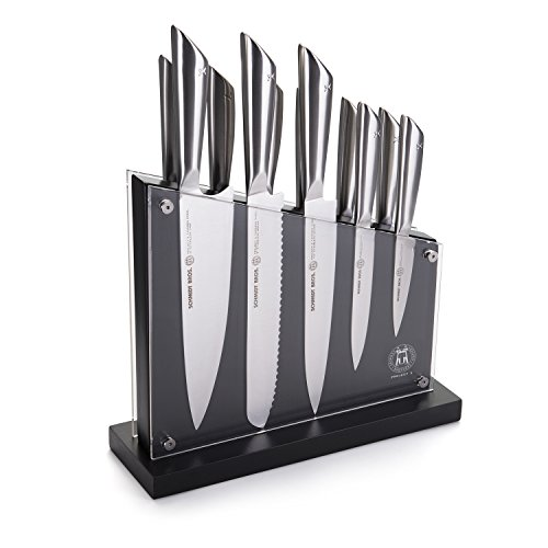 Hudson Home Project X by Schmidt Brothers SPXNS12 12 Piece Tapered Steel Set, - Barracuda Steel Knife