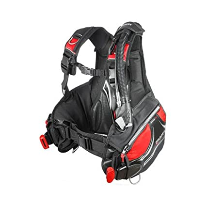 16587fec041e Amazon.com : Mares Prestige BC with MRS Plus Weight Pockets - Black/Red -  Medium : Diving Buoyancy Compensators : Sports & Outdoors
