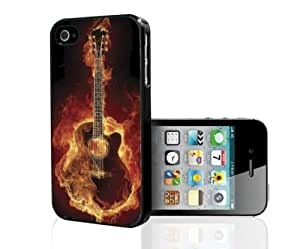 Fire Guitar Hard Snap on Phone Case (iPhone 5/5s)
