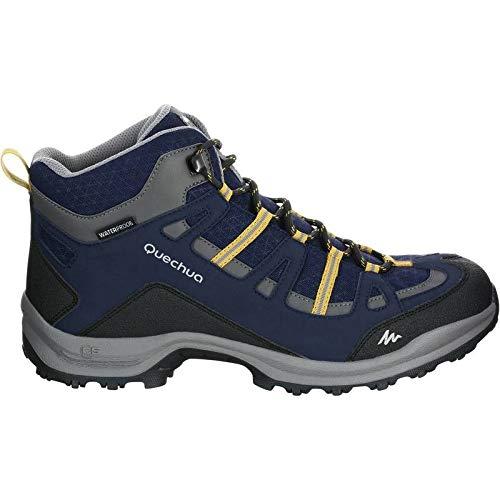 2bcc02100a18b7 Quechua Arpenaz 100 Men s Mid Waterproof Hiking Boots - Navy Blue (EU ...