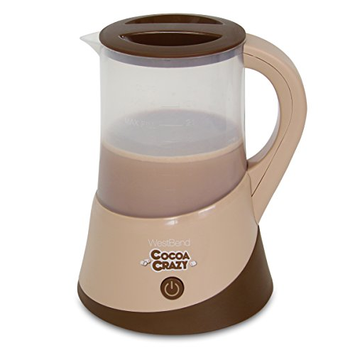 West Bend CL50024 Cocoa Crazy Hot Drink Maker for Instant Cocoa Coffee and Tea with Perfect Temperature Feature, 24-Ounce, Brown