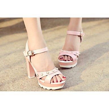 LvYuan Mujer-Tacón Stiletto-Otro Confort Innovador Gladiador Suelas con luz Zapatos del club-Sandalias-Exterior Oficina y Trabajo Vestido Pink