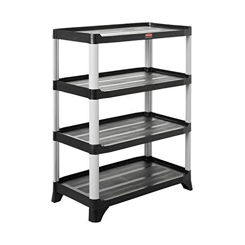 Rubbermaid Commercial Storage 4- Shelf Unit, Black (Rubbermaid 4 Shelf)