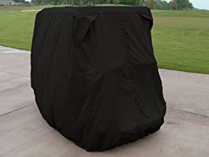 CoverMates – Golf Cart Cover – 4 Passenger 48W x 108D x 68H x 70D – Classic Collection – 2 YR Warranty – Year Around Protection - Black