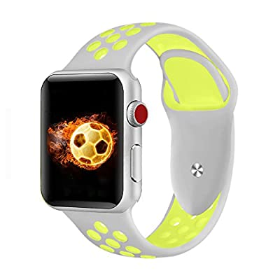 Braceleter Sport Band For Apple Watch 42mm 38mm,Soft Silicone Strap Replacement Wristbands For Apple Watch Sport Series 3 Series 2 Series 1