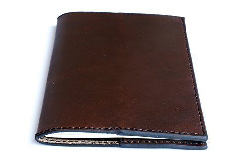 Journal Cover for Moleskine Journal made of Horween Chromexcel Leather of Brown Color with Black Stitching, Personalized Leather Journal - Perfect Gift for Any Occasion