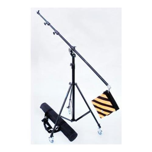 (JTL 5120 3-Section Portable Light Boom Kit with Deluxe Boom Stand and Carrying Case, 3 Casters & Weight Bag)