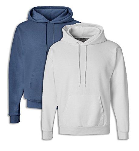 Hooded Sweatshirt Large 1 Denim Blue + 1 White ()