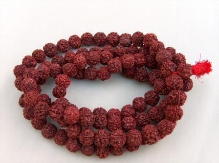 Rudraksha Mala (108 Xlarge-sized Beads on Unknotted Thread)
