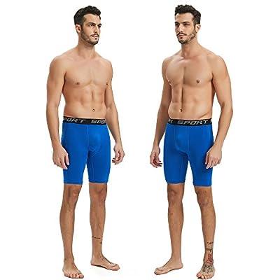 HOFISH Men's Compression Shorts Active Workout Underwear 3 Pack