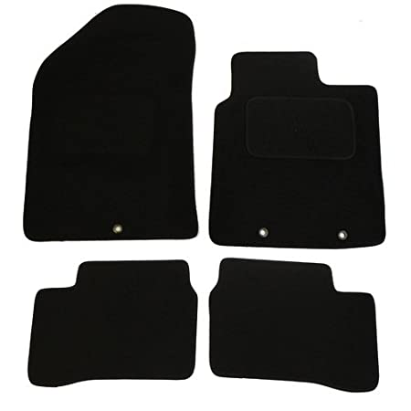JVL Fully Tailored Car Mat Set with 4 Clips Black