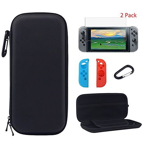 Yztree Nintendo Switch Carrying Game Traveler Deluxe Travel Case with Screen Protector for Nintendo Switch (Wii Deluxe Kit)