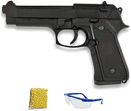HFC HA-118 negra. Pistola de Airsoft Calibre 6mm (Arma Aire Suave de Bolas de plástico o PVC). Sistema: Muelle. <3,5J