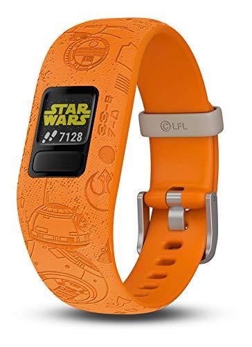 Garmin vivofit jr. 2, Kids Fitness/Activity Tracker, 1-Year Battery Life, Adjustable Band, Star Wars Light Side, Bright Orange