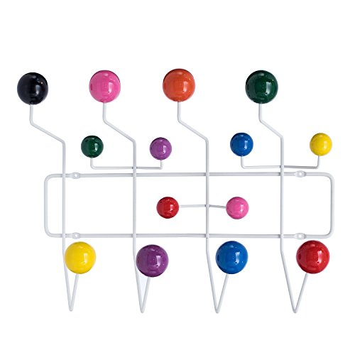 lch eames hang it all replica wall mounted coat rack with painted solid wooden balls multi. Black Bedroom Furniture Sets. Home Design Ideas