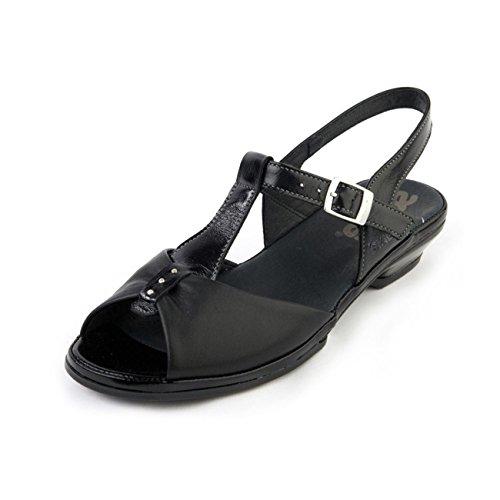 Noir Pour Suave Sandales Verni Femme xwfHnPq7