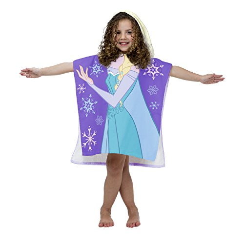 Princess Hooded Bath Towel - Disney Frozen Princess Elsa Cotton Hooded Beach/Bath/Pool Poncho