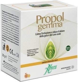 ABOCA - PROPOLGEMMA 20 COMPRIMIDOS COMPRIMIDOS BUCALES ADULTOS protección de la la mucosa, calma l