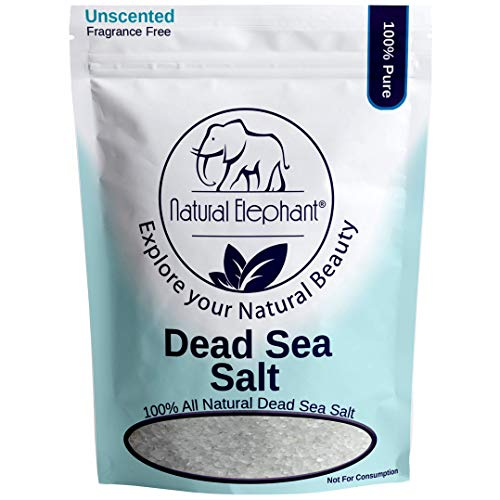 (Dead Sea Salt Coarse Grain 5 lb (2.25 kg) by Natural Elephant 100% Natural & Pure for Psoriasis Eczema Acne & Other Dermatological Needs)