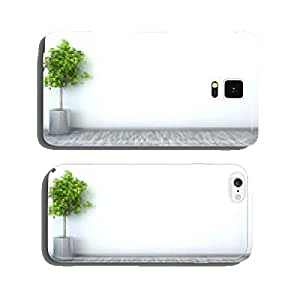 white interior with plant. 3D illustration cell phone cover case iPhone5