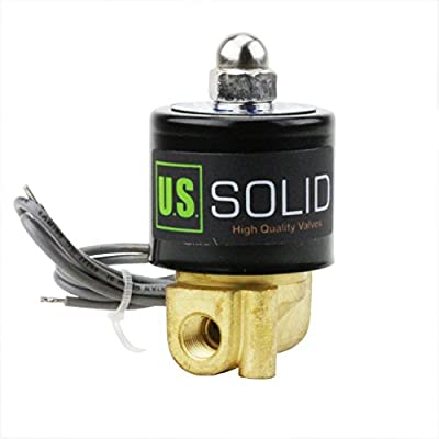 """1/8"""" Brass Electric Solenoid Valve 24V DC Normally Closed VITON"""