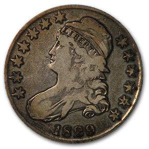 1829 Capped Bust Half Dollar Fine Half Dollar Fine