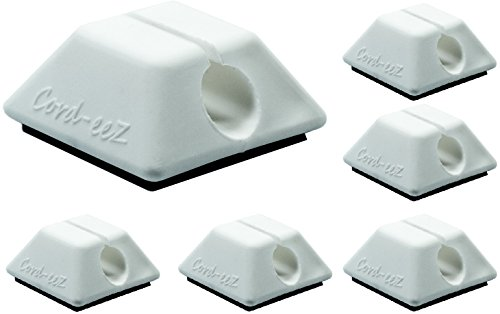 Cord-eeZ Cable Clips, Cable Management and Cord Organizer for electrical, computer, gaming, or charging systems