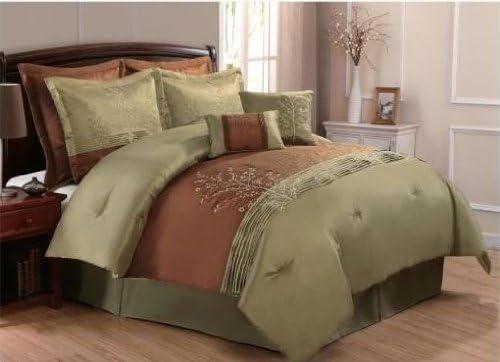 ALL SIZES 8pc Modern Black Colorblock Comforter Set /& Decorative Pillows