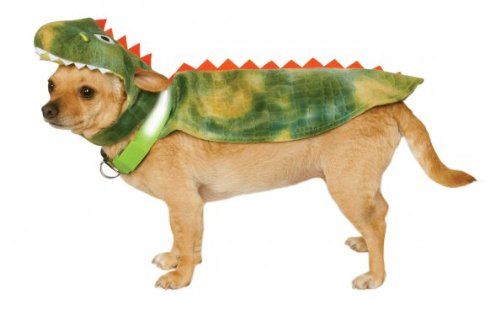 Rubie's Dinosaur Cape with Headpiece and Light-Up Collar Pet Costume, Small -