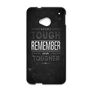 HTC One M7 Cell Phone Case Black_When Life Is Tough Wziec
